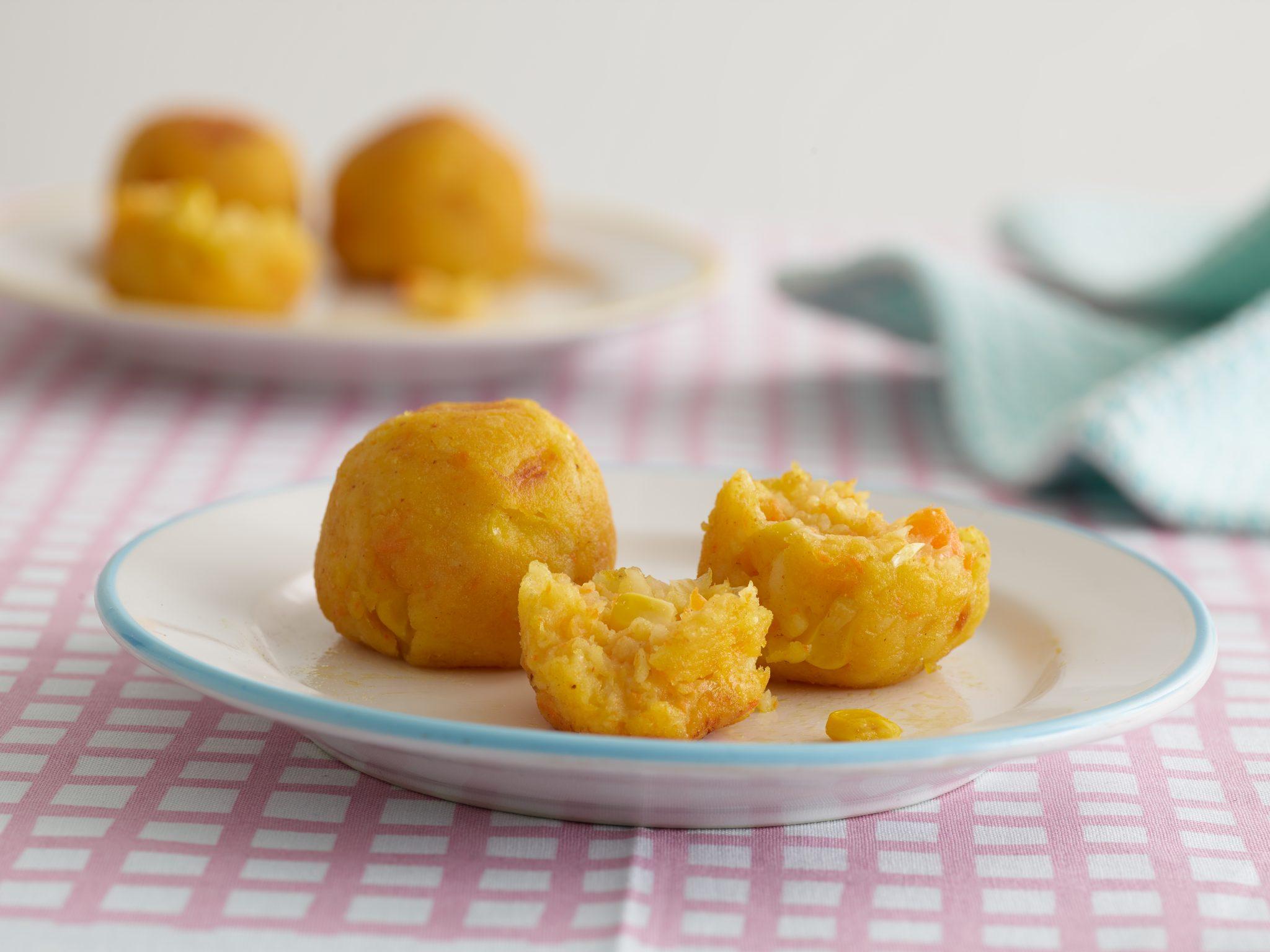 potato, carrot and sweetcorn balls recipe by annabel karmel